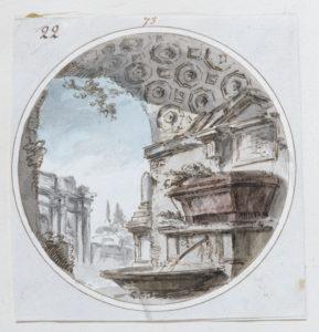 Adam, capriccio, c.1756-57, Soane Museum Adam volume 56/73