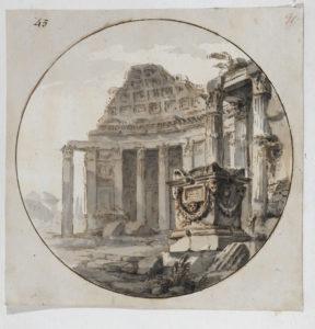 Adam, capriccio, c.1756-57, Soane Museum Adam volume 56/91