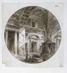 Clerissau capriccio, Soane Museum Adam volume 56/139